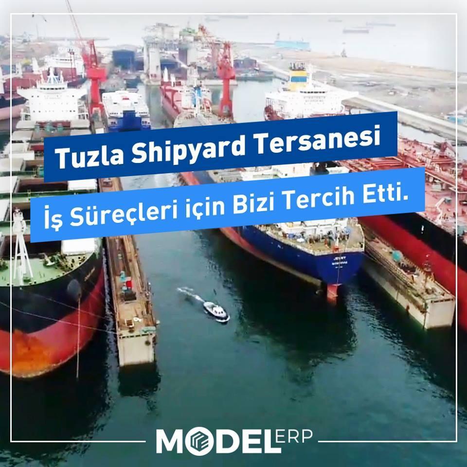 Tuzla Shipyard, proje bazlı iş süreçlerini Model ERP 'ye taşıdı.